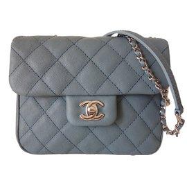 Chanel-SAC CLASSIQUE PM BLEU JEAN-Bleu