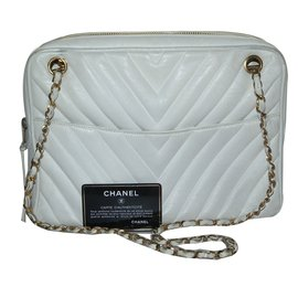 Chanel-Caméra vintage-Blanc