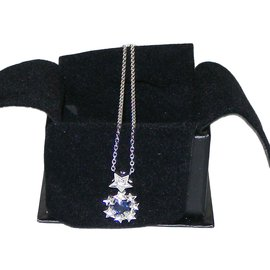 Chanel-Pendant necklaces-Silvery,Blue