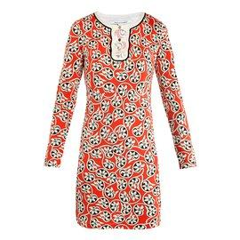 Diane Von Furstenberg-Robes-Marron,Blanc,Vert,Orange