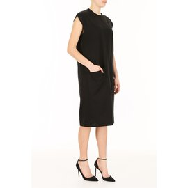 Céline-Dress in Cotton Jersey-Black