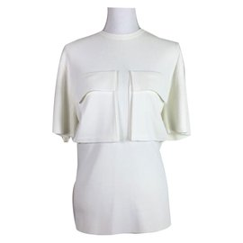 Céline-Patch pocket T-Shirt-White