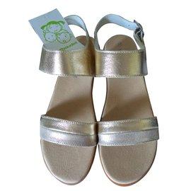 Autre Marque-Kids Sandals-Golden
