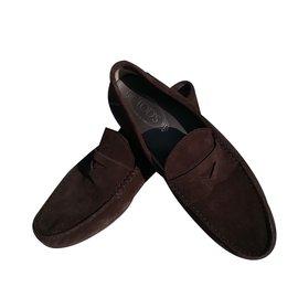Tod's-Loafers Slip ons-Dark brown