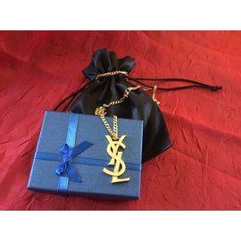 Yves Saint Laurent-Pendant necklaces-Golden