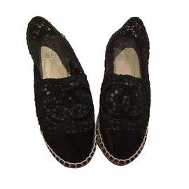 Chanel-Espadrilles-Black