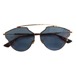 Dior-dior so real pop lunettes-Bleu,Doré