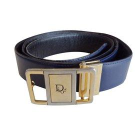 0a0509a34d9 Dior-Ceinture classique-Bleu Marine ...