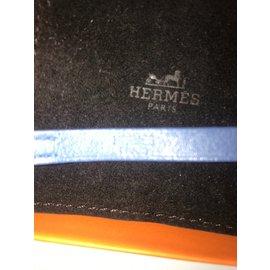 Hermès-Bracelet hapi mixte double tour-Bleu