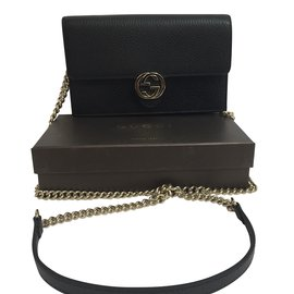 Gucci-Pochette avec chaîne-Noir