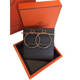 Hermès-Loop Earrings-Golden