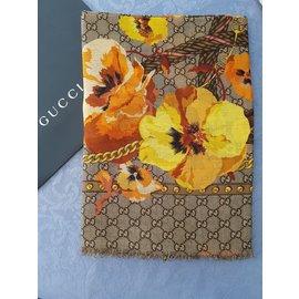 Gucci-Foulards-Beige,Orange,Jaune