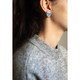 Yves Saint Laurent-Boucles d'oreilles-Argenté