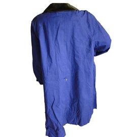 Hermès-Trench coats-Blue,Purple
