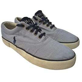 Polo Ralph Lauren-Sneakers-White,Blue