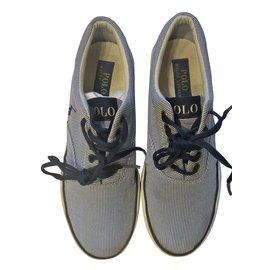 Polo Ralph Lauren-Bottes, bottines-Blanc,Bleu