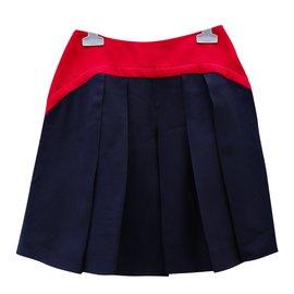Miu Miu-Jupes-Rouge,Bleu Marine