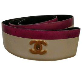 Chanel-Belts-Golden,Dark red