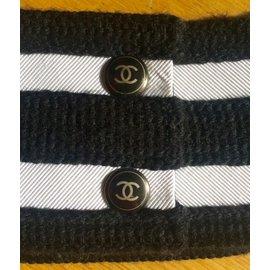 Chanel-Ceintures-Noir,Blanc,Doré