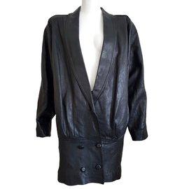 Lanvin-Robe manteau  LANVIN-Noir