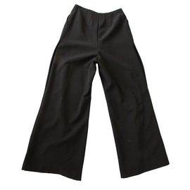Chanel-Pantalons-Noir,Doré