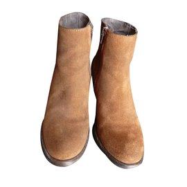Jonak-Ankle Boots-Caramel