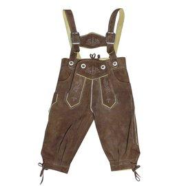 Autre Marque-Pantalon autrichien Steindl daim véritable-Brodé - 18 mois-Caramel