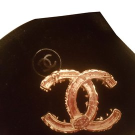 Chanel-Pins & brooches-Black,Golden