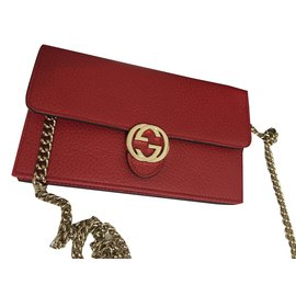 Gucci-Wallet on chain-Rouge