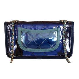 Chanel-Sac PVC-Bleu