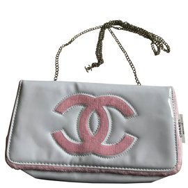 Chanel-Clutch bag-White