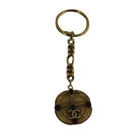 Chanel-Porte clef-Doré
