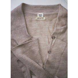Hermès-Pulls, Gilets-Beige