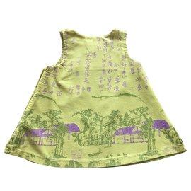 Kenzo-Robe chasuble-Vert