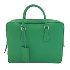 Prada-Cartable Vert-Vert