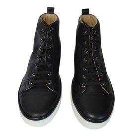 Hermès-calfskin sneakers-Black