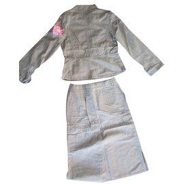 Christian Lacroix-jupe et veste-Multicolore