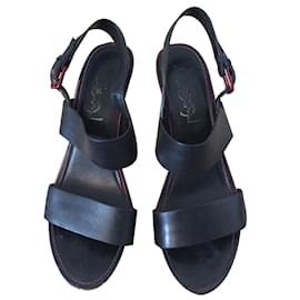 Yves Saint Laurent-Sandals-Black