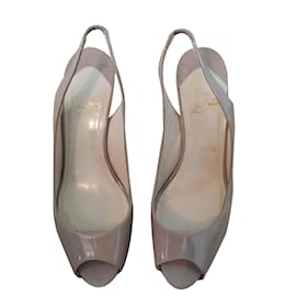 Christian Louboutin-peep toes-Pink