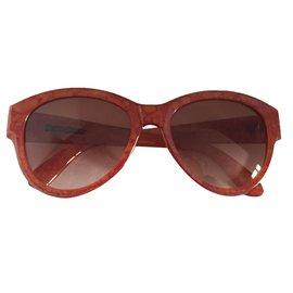 Yves Saint Laurent-Lunettes de soleil vintage 70's-Orange
