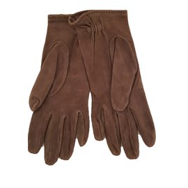 Hermès-Gloves-Brown