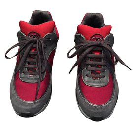 Chanel-Sneakers-Red,Grey