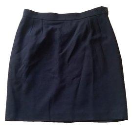 Yves Saint Laurent-Skirt-Navy blue