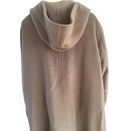 Hermès-Manteau-Beige