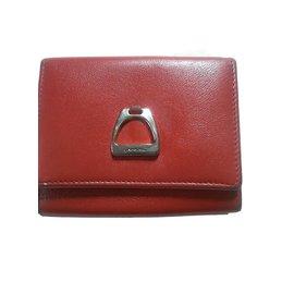 Lancel-Porte-monnaie homme-Rouge