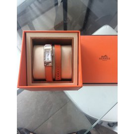 Hermès-Montre KELLY II-Orange