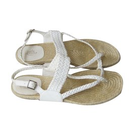Hermès-Sandals-White