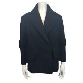 Céline-pea jacket-Black