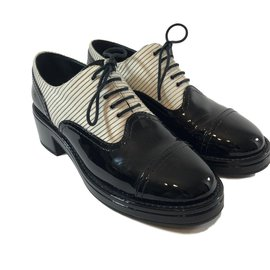 Chanel-Derby shoes-Black,White