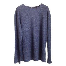 T By Alexander Wang-Tee shirt-Bleu,Gris